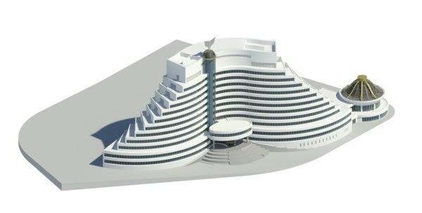 portugal building architectural 3D model
