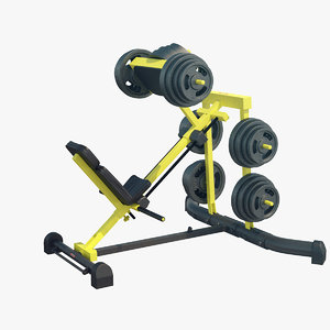 leg press 3D model