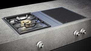 gaggenau grill cooktop vg415211 3D model
