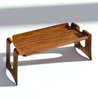 wood coffee table 3D model