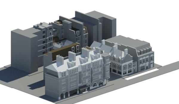 3D duke uk architectural model