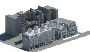 3D duke uk architectural model