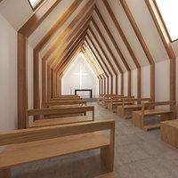 chapel church architecture 3D model