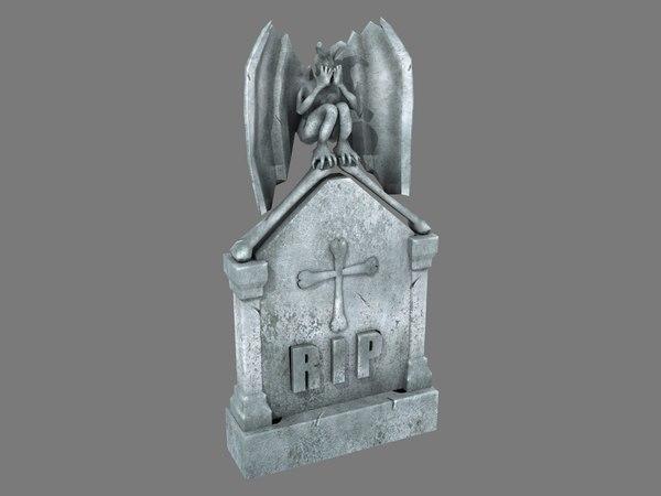 3D tombstone angel pbr