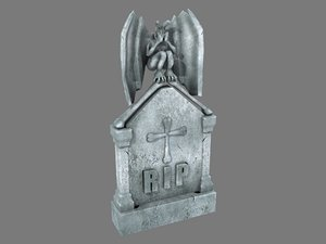 3D tombstone angel pbr