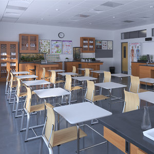 biology anatomy classroom 3D model