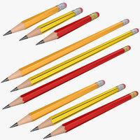 3D model pencil 3