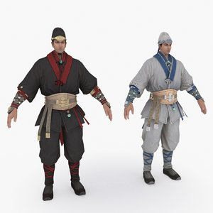 3D medieval china character 013