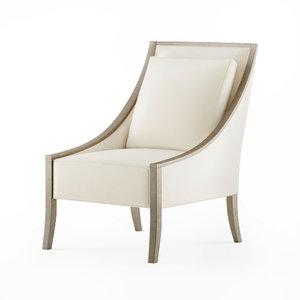 armchair caracole fine line 3D model