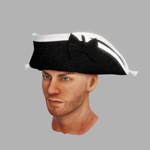 3D model xviii tricorn