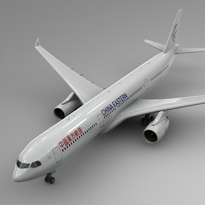 3D airbus a330-300 china eastern airlines