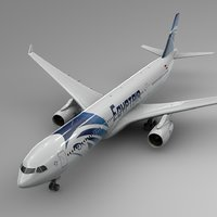 3D airbus a330-300 egypt air model