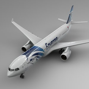 3D airbus a330-300 egypt air model