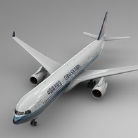 airbus a330-300 china southern 3D model