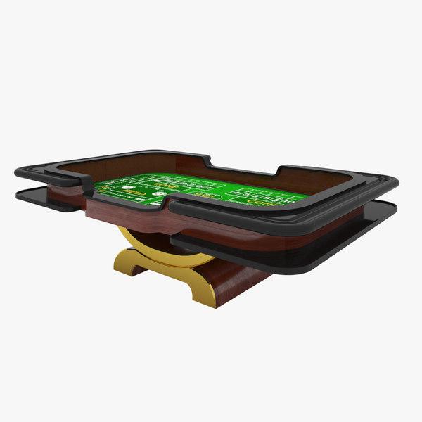 craps table model