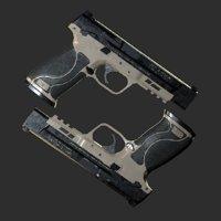 mp40 pistol 3D model