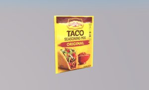 taco seasoning mix food 3D