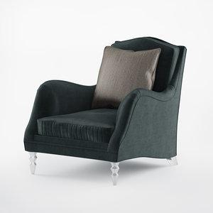 3D armchair caracole fancy footwork