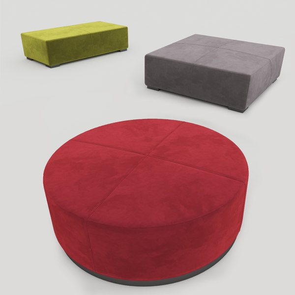 meridiani pouf benches brons 3D model