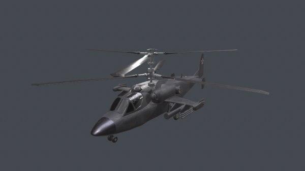 3D model helicopter black shark