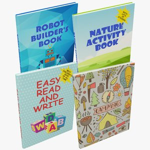 3D model books sets