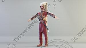 ottoman soldier 3D model
