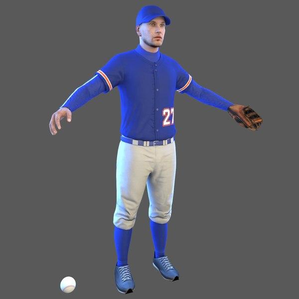 baseball player ball 3D model