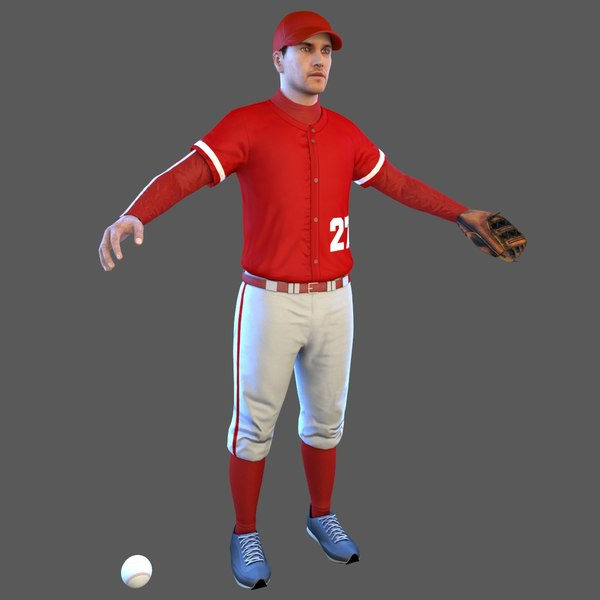 baseball player ball 3D