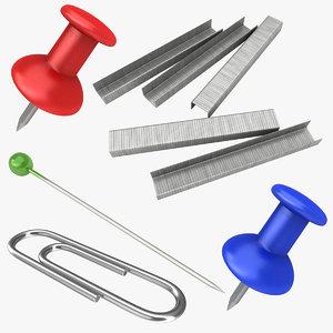 clips staples needle 3D model