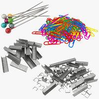 clips pile 3D