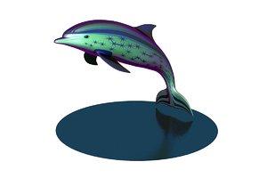 3D fairy tale dolphin model