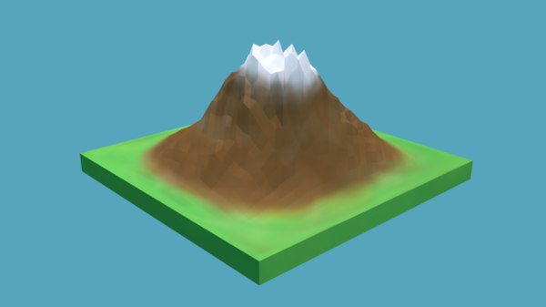 3D mountain nature model