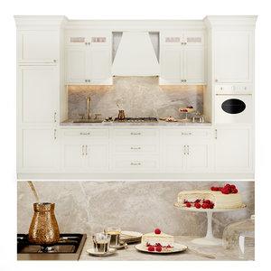 classic kitchen appliances smeg 3D model