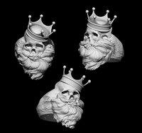 beard king skull