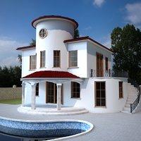 duplex villa 3D model