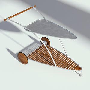 food garden cart 3D model