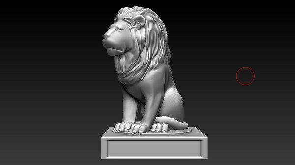 3D lion statue printing