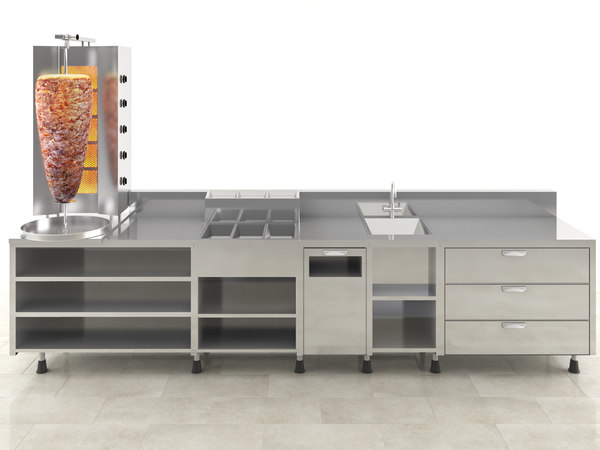 3D model meat doner kitchen