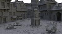 Medieval Village Scene