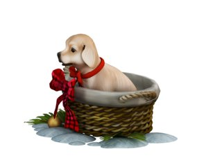 dog cute 3D model