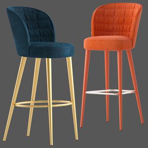 montbel rose stool 3D model