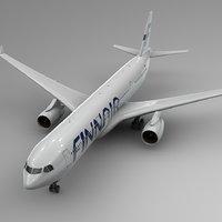 3D airbus a330-300 finnair l363
