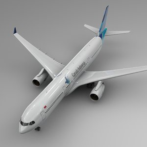 3D model airbus a330-300 garuda indonesia