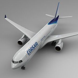 3D airbus a330-300 corsair international