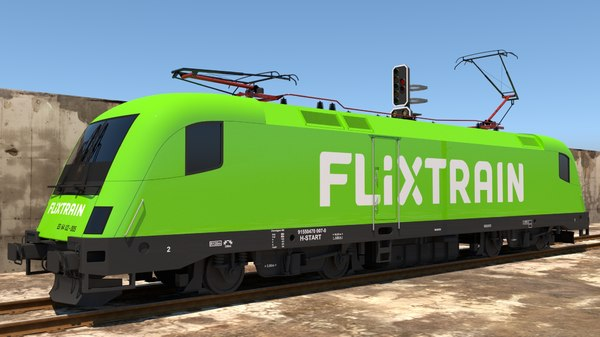 siemens train flixtrain 3D model