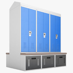 personal storage lockers 3D model