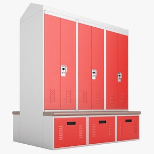3D model personal storage lockers