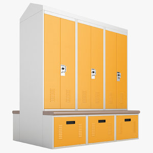 personal storage lockers 3D