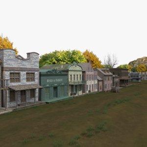 3D western village