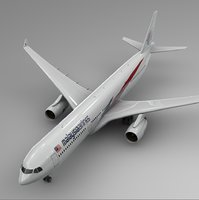 airbus a330-300 malaysia airlines 3D